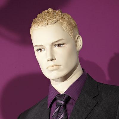 Mannequin homme, cheveux sculptés