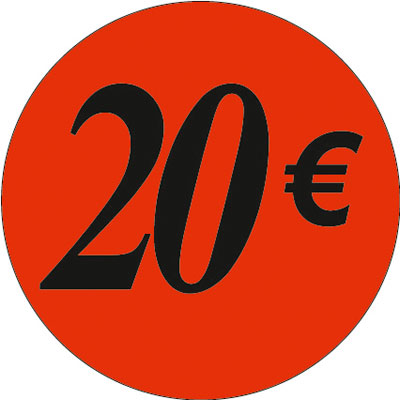 Gommettes adhésives 20€