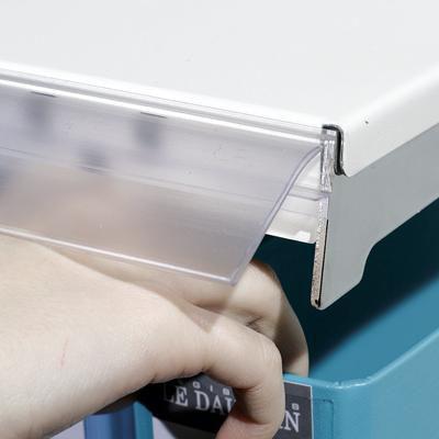 Porte étiquette adhésif basculant