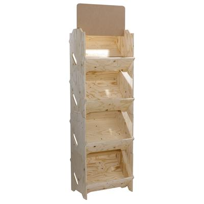pr sentoir izzibox en bois coloris naturel. Black Bedroom Furniture Sets. Home Design Ideas