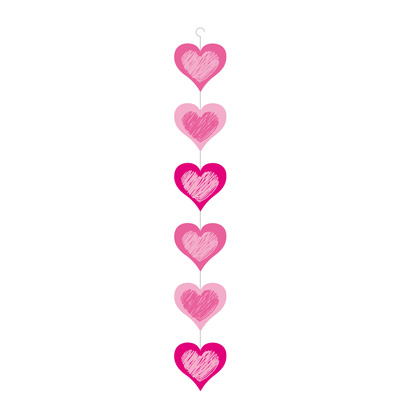 Guirlande de 6 coeurs