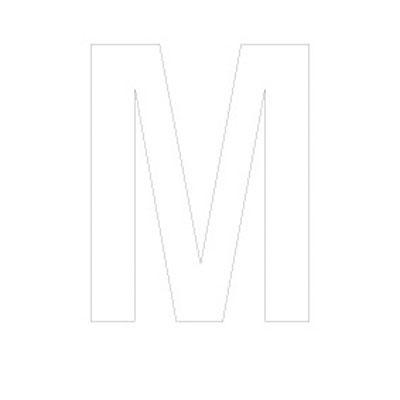 Lettre adhésive M