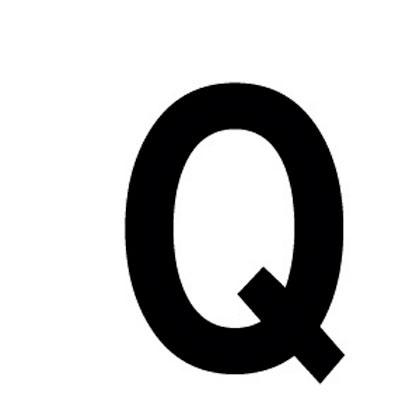 Lettre adhésive Q