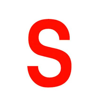 Lettre adhésive S