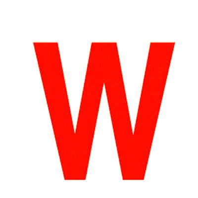 Lettre adhésive W