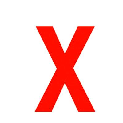 Lettre adhésive X