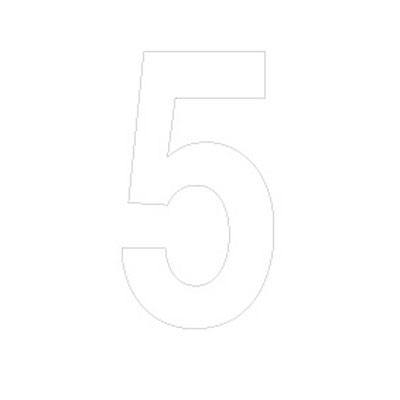 Chiffre adhésif 5