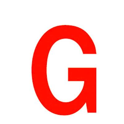 Lettre adhésive G