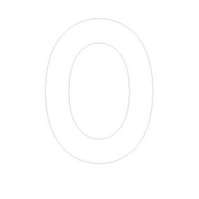 Lettre adhésive O