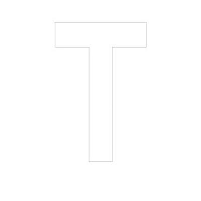 Lettre adhésive T