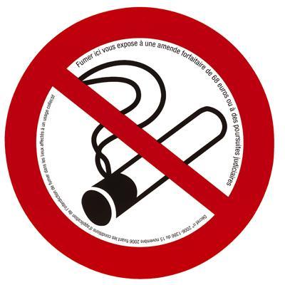 Plaque de signalisation Interdiction de fumer