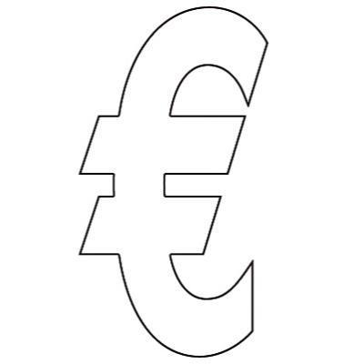Lettres et Chiffres adhésifs euro