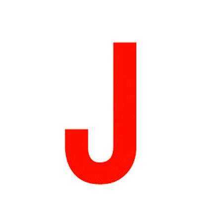 Lettre adhésive J
