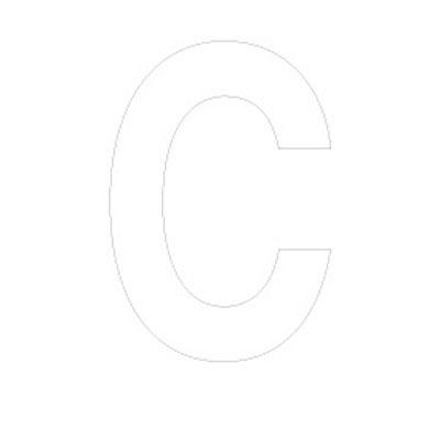 Lettre adhésive C