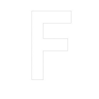 Lettre adhésive F