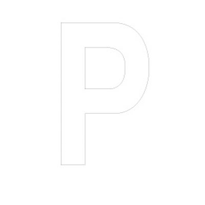 Lettre adhésive P