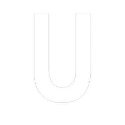 Lettre adhésive U