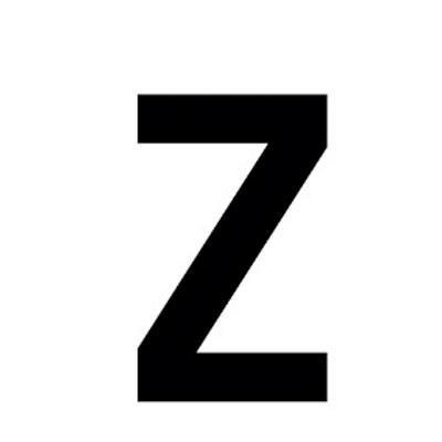Lettre adhésive Z