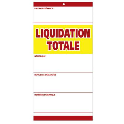 Étiquettes à trou  Liquidation Totale