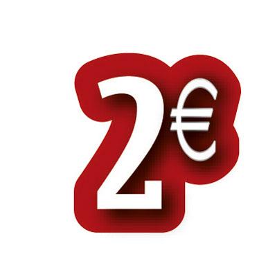 Carton découpé 2€
