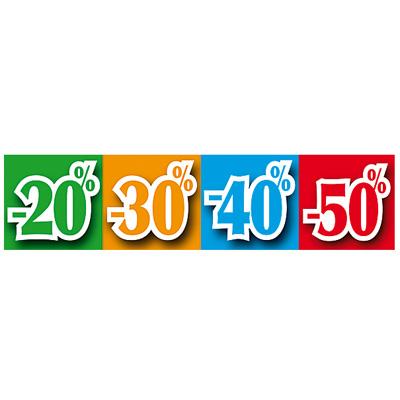 """Bandeau """"-20/-30/-40/-50%"""""""