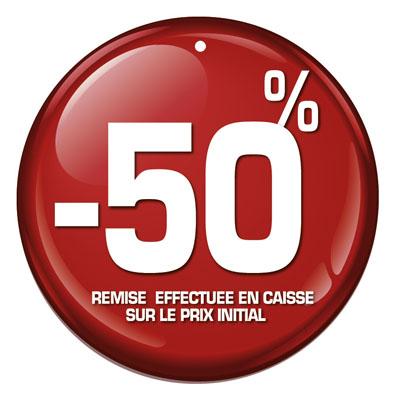 Etiquettes à trou rondes -50%