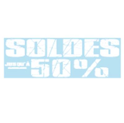 Sticker Soldes jusqu'à -50%