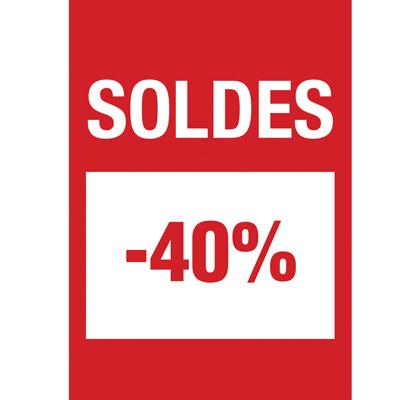 Affiche Soldes -40%