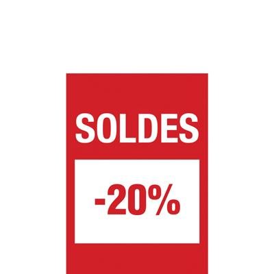 Affiche Soldes -20%