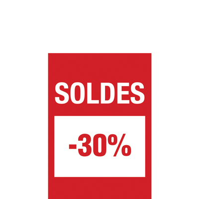 Affiche Soldes -30%