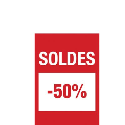 Affiche Soldes -50%