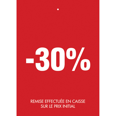 Étiquettes à trou -30%