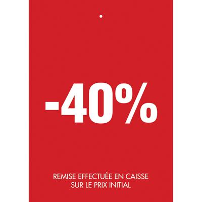 Étiquettes à trou -40%