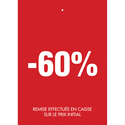 Étiquettes à trou -60%