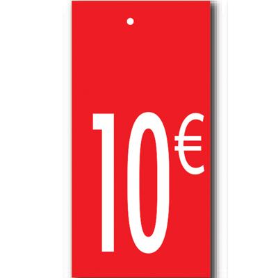 Étiquettes à trou 10 €