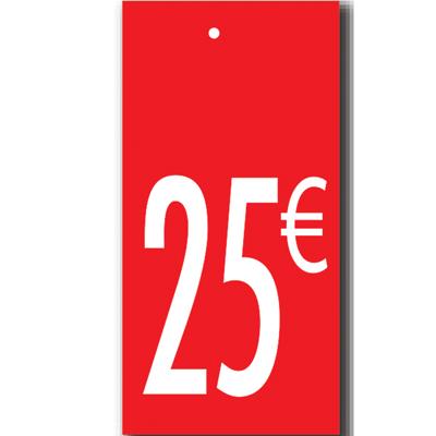 Étiquettes à trou 25 €