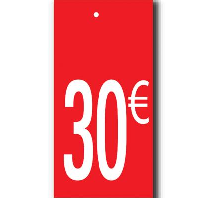 Étiquettes à trou 30 €