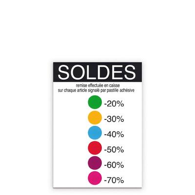 Affiche Soldes code couleurs
