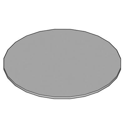 Tablette compacte ronde