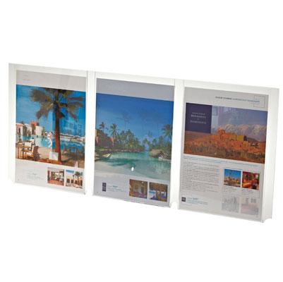 Plexi porte-affiches, triple pochettes