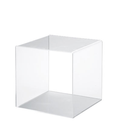 Cube plexi for Vitrine plastique transparent
