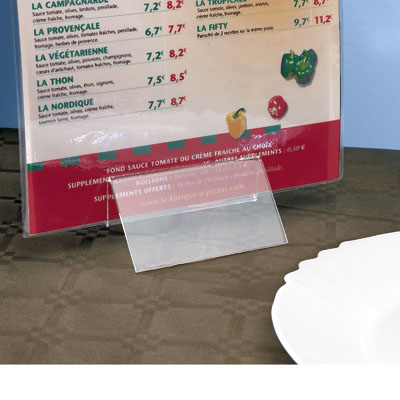 Clip porte menu à poser