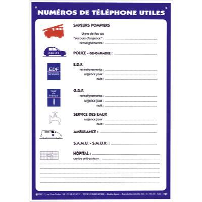 Numéros de téléphone