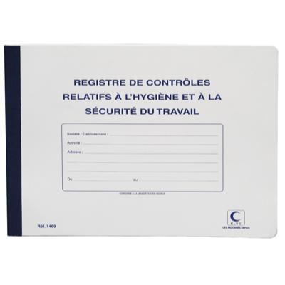 Registre contrôle relatif hygiène/sécurité travaux