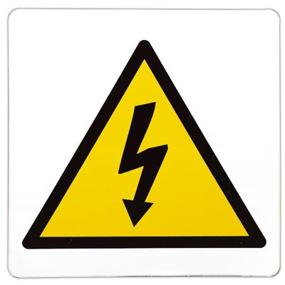 Pictogramme adhésif Risque d'électricité