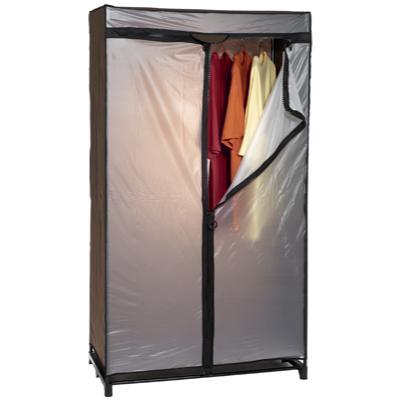 armoire penderie noir l 90 x p 46 x h 160 cm. Black Bedroom Furniture Sets. Home Design Ideas