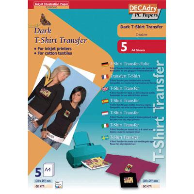 Transferts T-shirt, textiles noirs