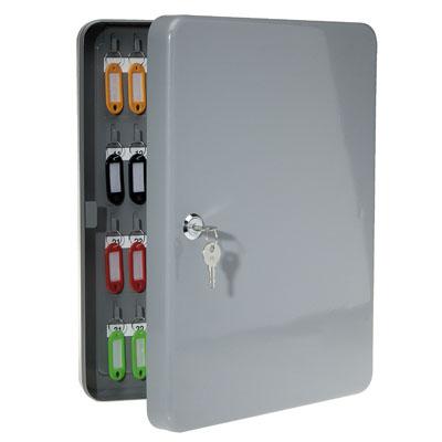 Armoire cl s capacit 80 cl s gris l 28 x p 6 x h 37 cm - Armoire a cles grande capacite ...