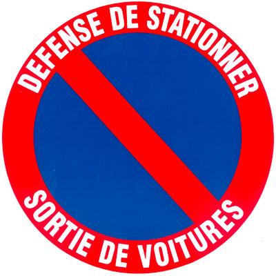 Disque Stationnement interdit