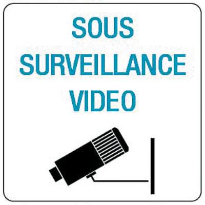 Pictogramme adhésif Surveillance vidéo